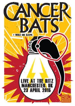 Gzy Ex Silesia - Cancer Bats - Manchester Gig Poster