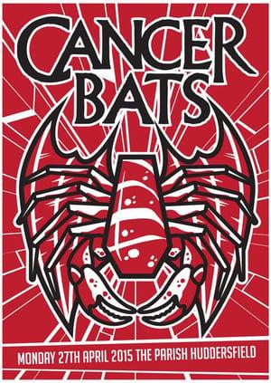 Gzy Ex Silesia - Cancer Bats - Huddersfield Gig Poster