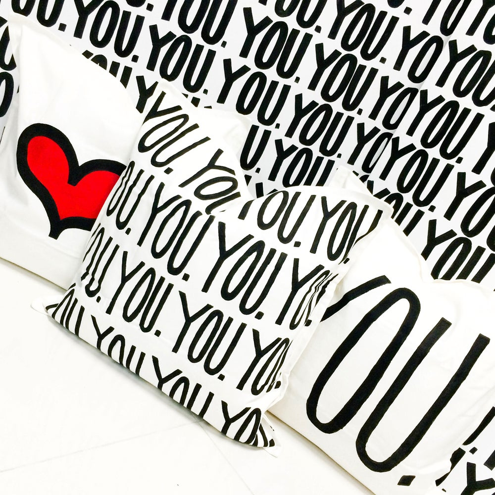 Image of HAND PAINTED CANVAS PILLOW FOR YOU. ONLY 100 WILL BE MADE.