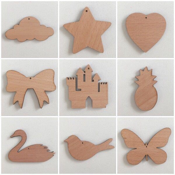 Image of Mini Garlands - wooden shapes