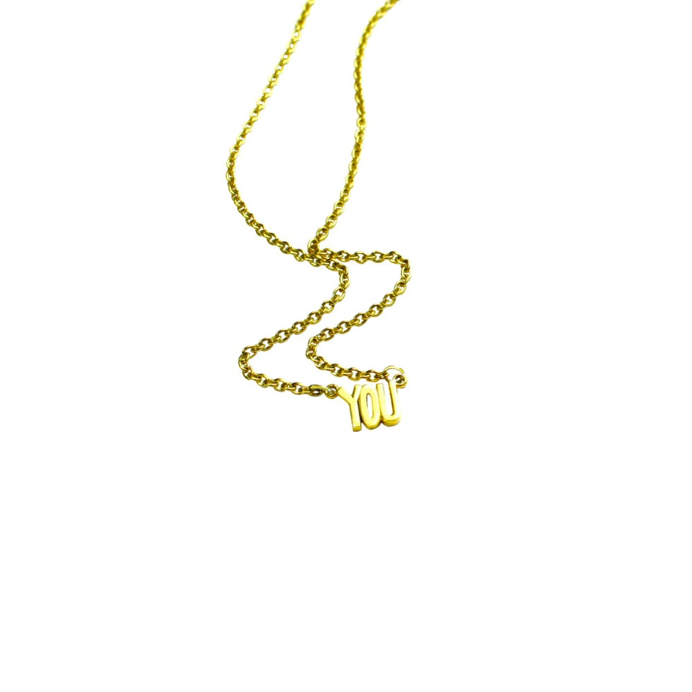 Image of 14K GOLD YOU. NECKLACE