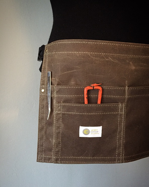 Image of Waxed Waist Apron | STYLIST | 4 Pocket Waxed Apron.