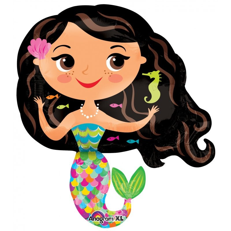 Image of {Happy Mermaid} Mylar Balloon