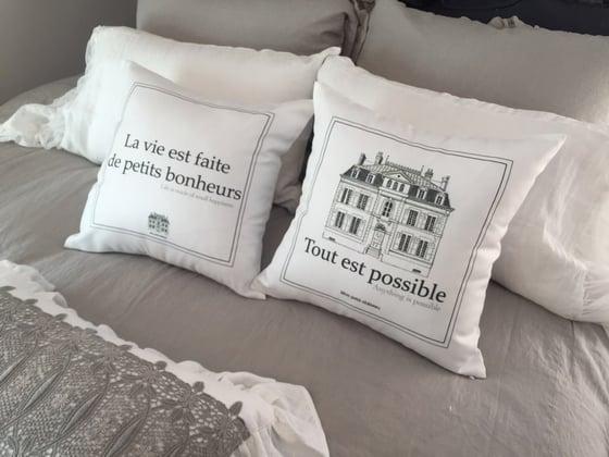 Image of Petits bonheurs cushion cover