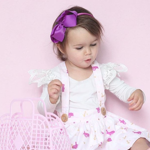 Image of Bright Violet Bow Headband