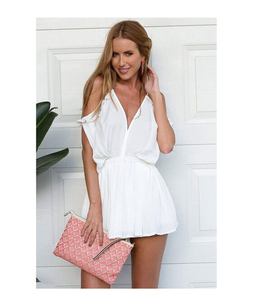 Image of Lilly Playsuit White