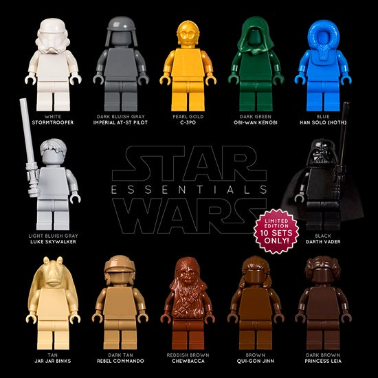 Image of SET OF 12 STAR WARS LEGO MONOFIGS [LIMITED EDITION]
