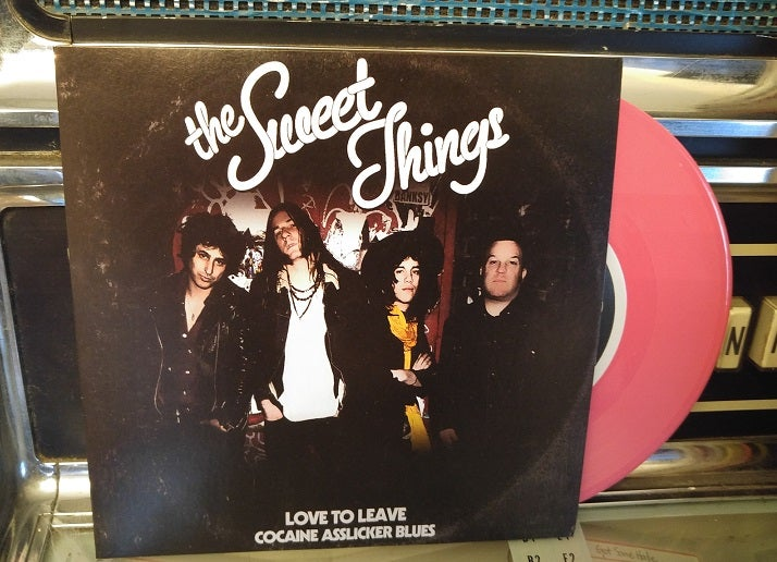 "Image of The Sweet Things ""Love To Leave"" Pink Vinyl"