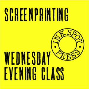 Image of Wednesday Evening Screenprinting (six classes) 30th. Sept. - 4th. Oct. 2020.  6.30 - 9.30pm.