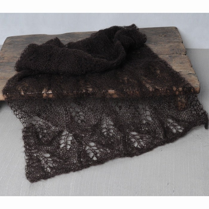 Image of Mohair wrap brown