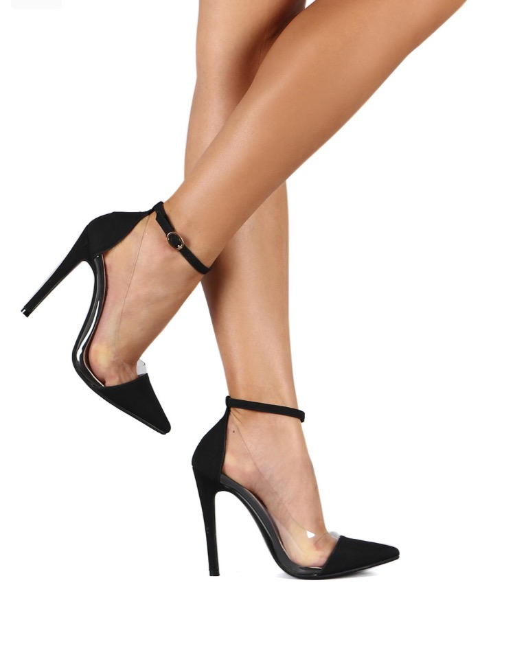 Image of Barely Basic Pumps w/ ankle strap (Black)