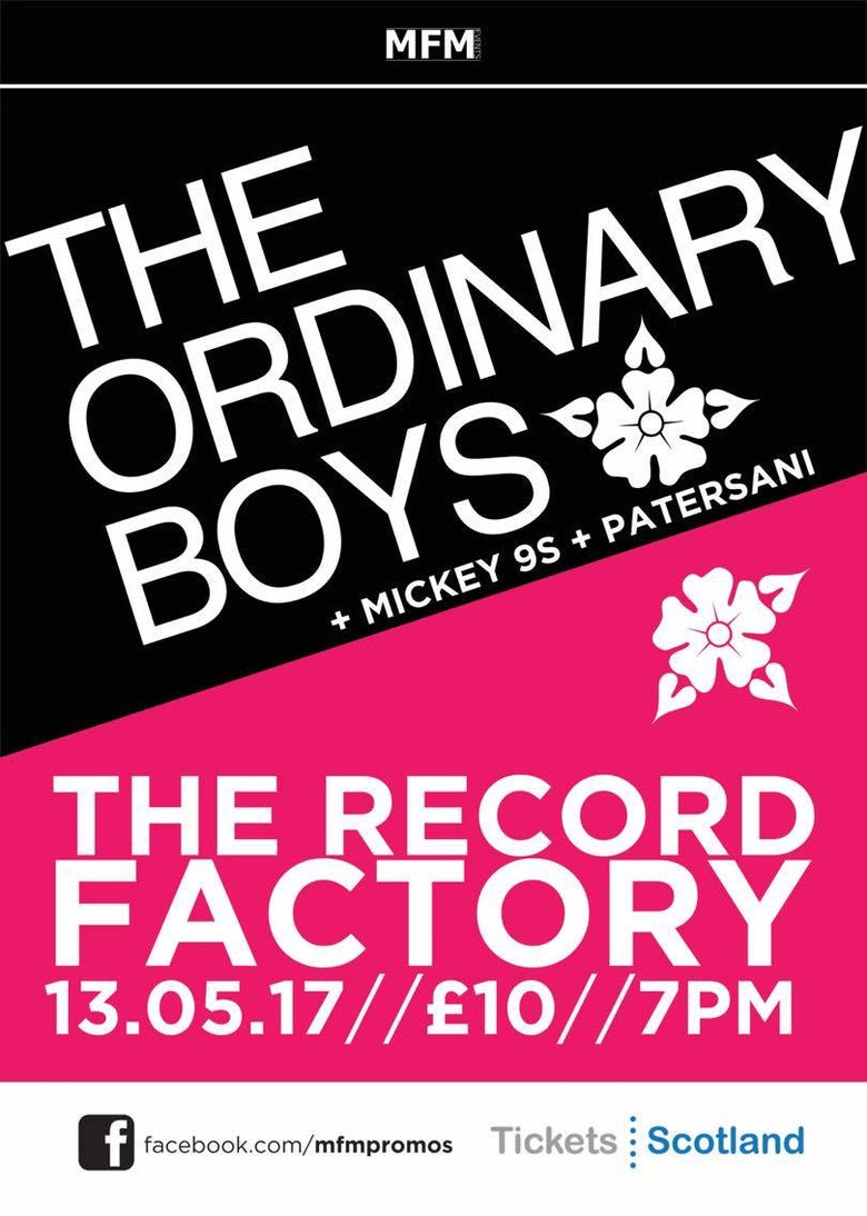 Image of The Ordinary Boys - Saturday, May 13th