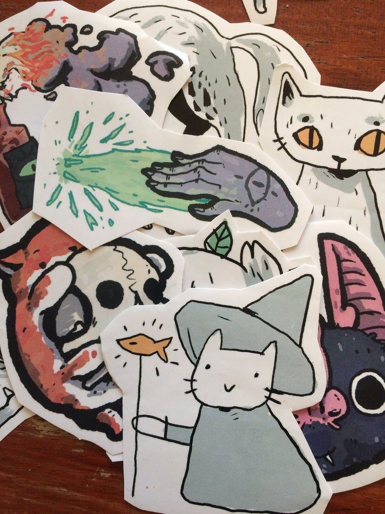 Image of B.Mure x ACID LAKE set of 5 stickers