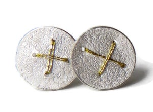 Image of Sewn Up Round studs