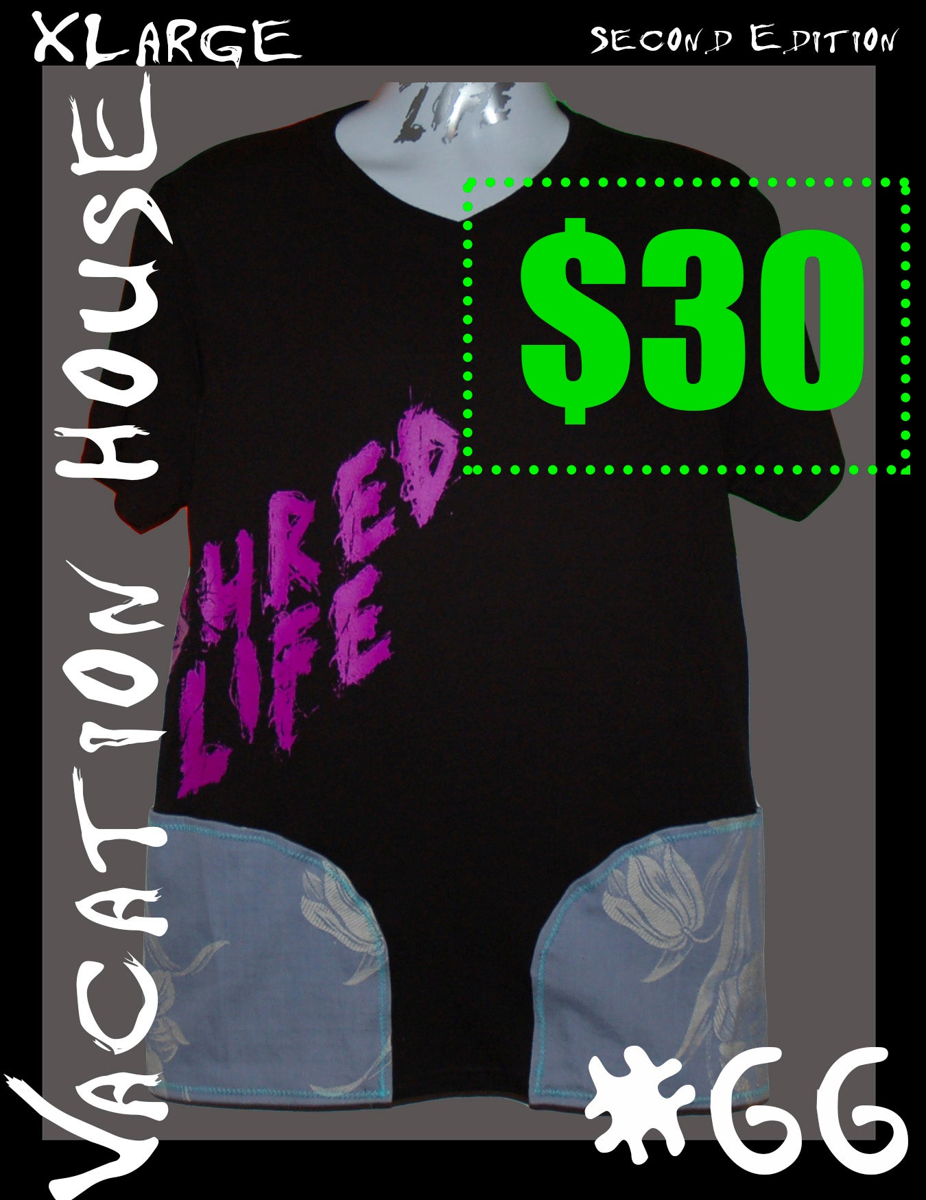 """Image of SHRED SHIRT(s) #66 & #67 """"Vacation House"""" (Sizes XL & M)"""
