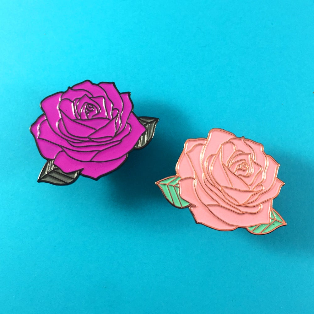 Image of Solid Rose Enamel Pin