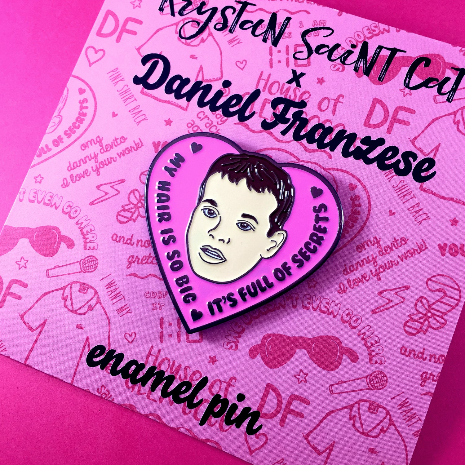Image of Damian Enamel Pin - Collab with Daniel Franzese
