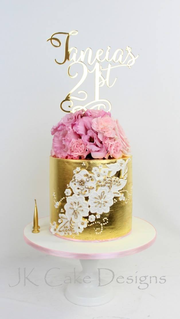 Image of Name & Age Cake Topper