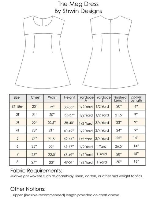 Image of Meg Dress Pattern