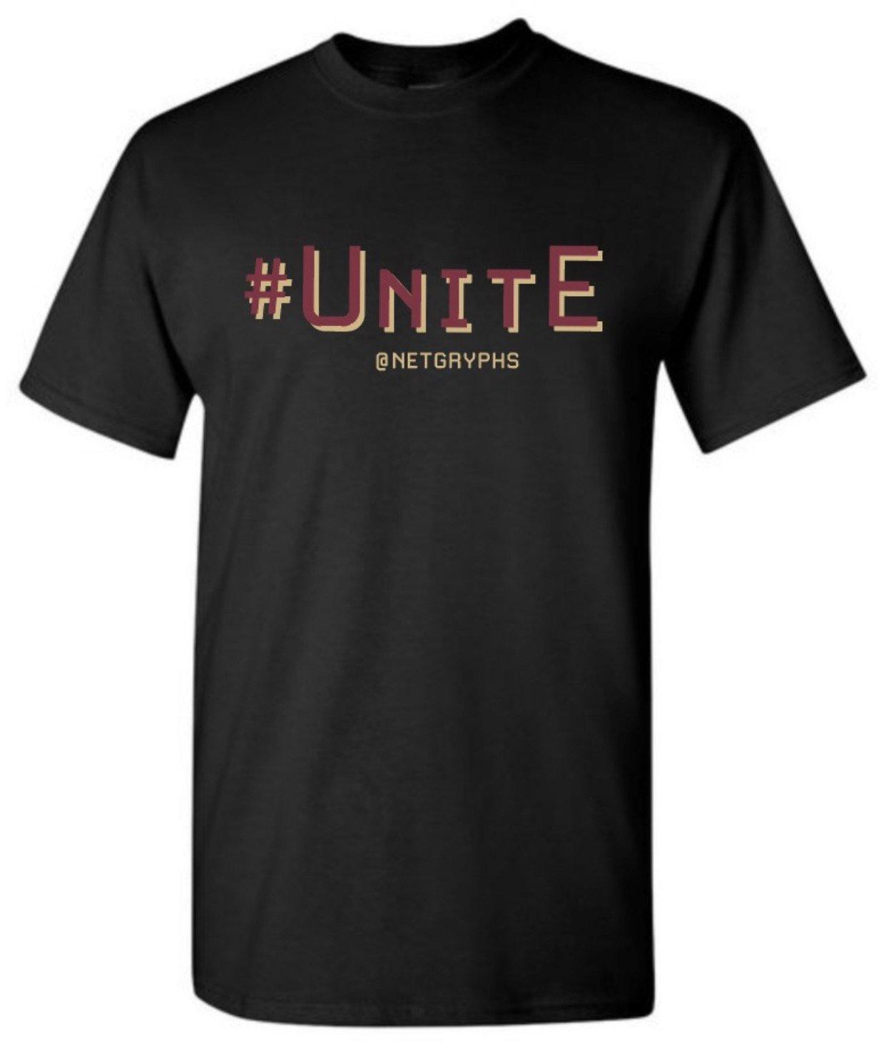 Image of #UNITE - SG Softstyle  Short Sleeve Tee Shirts (BLACK)