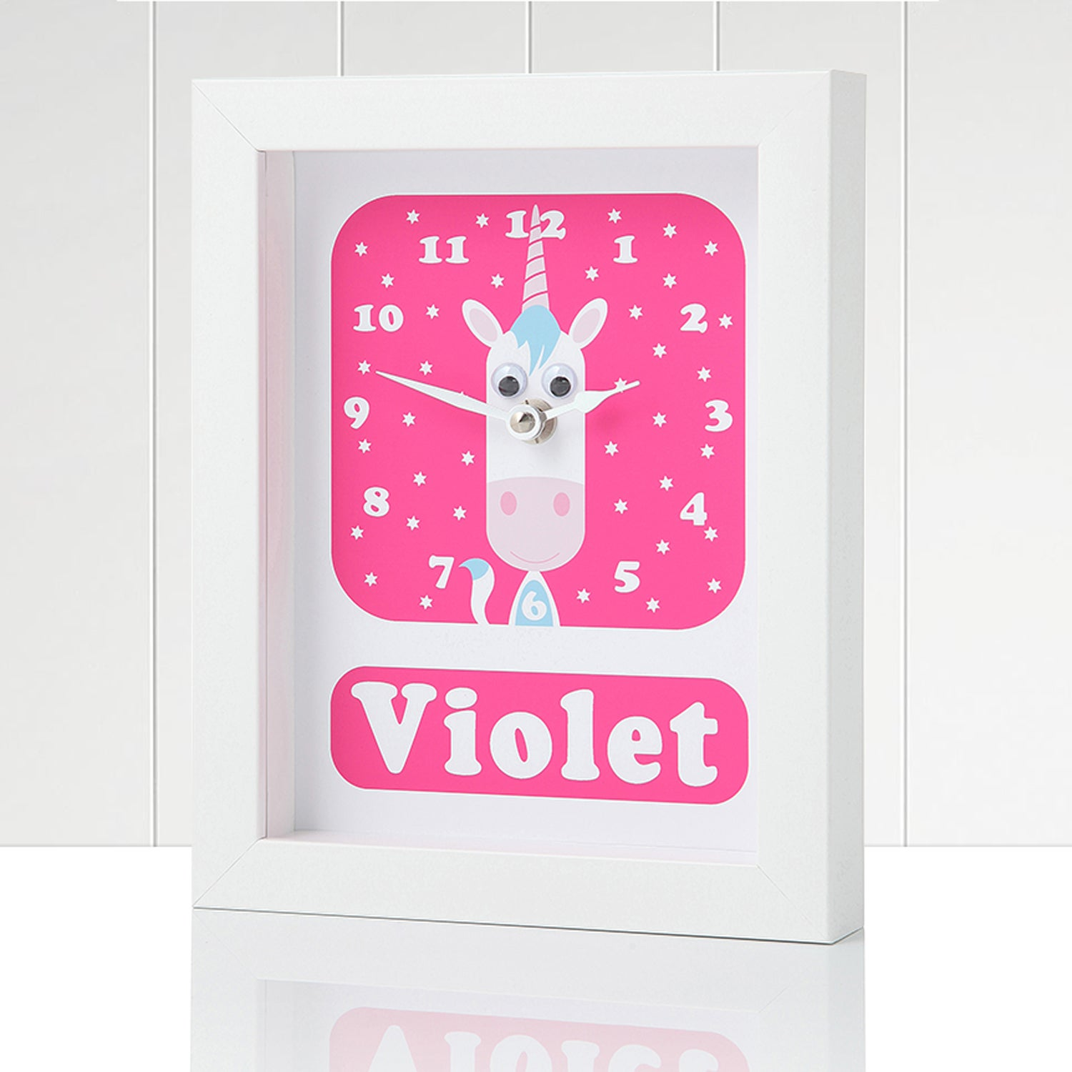 Image of Personalised Unicorn Clock