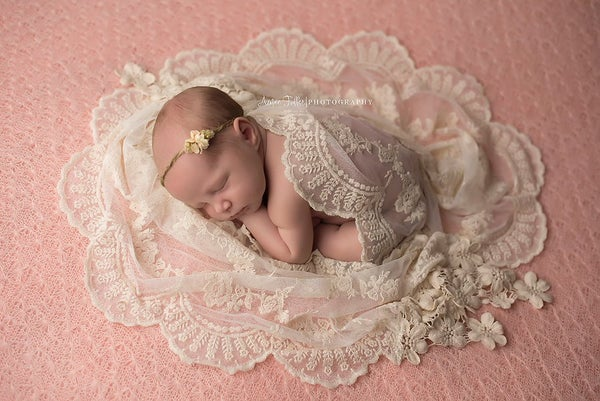 Image of Sienna embroidery lace wrap
