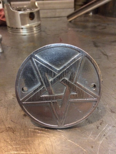"Image of Mindwar Cycles Cast Aluminum ""Star"" Points/Timing Cover"