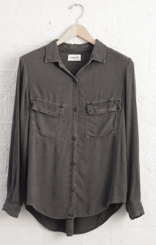 Image of SALE Sam & Lavi Isabelle button down in Vintage Charcoal
