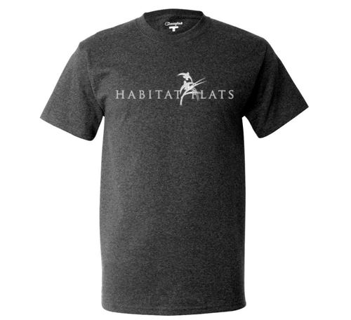 Image of Habitat Flats Charcoal T-Shirt