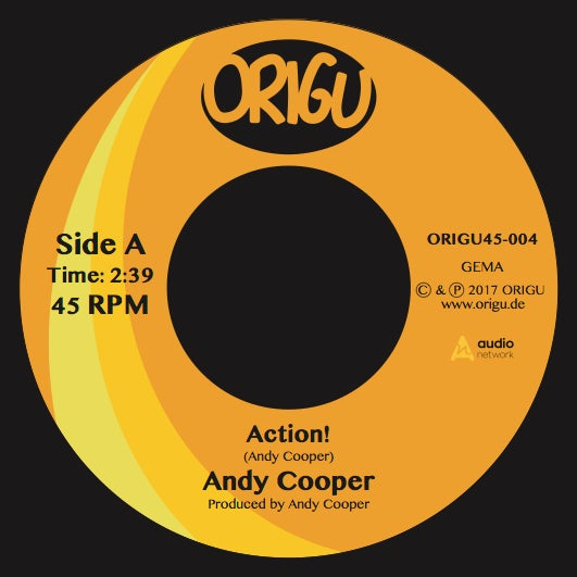 "Image of LAST COPIES!!! 7"" Andy Cooper: Action! b/w Don't Hold The Feeling In (ORIGU45-004)"