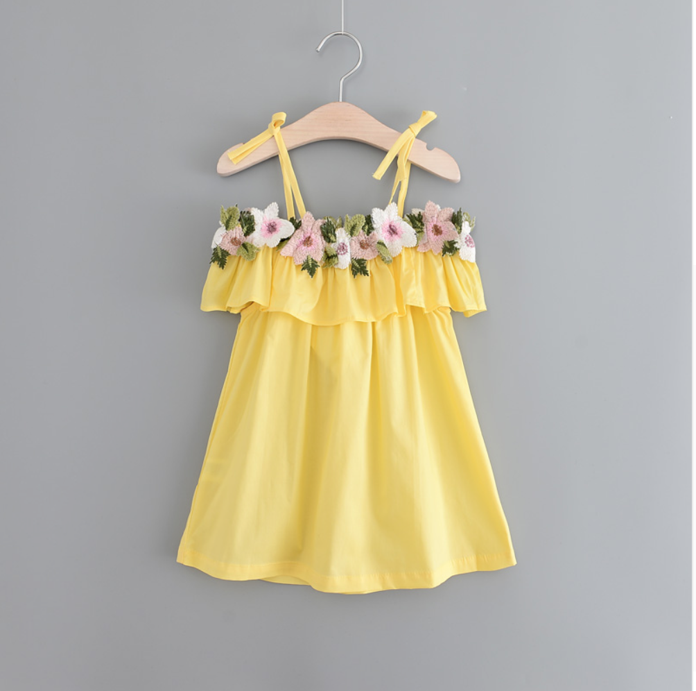 Pretty Flower Dress Babyandmeop