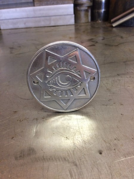 "Image of Mindwar Cycles Cast Aluminum ""Pentagram"" Points-Timing Cover"