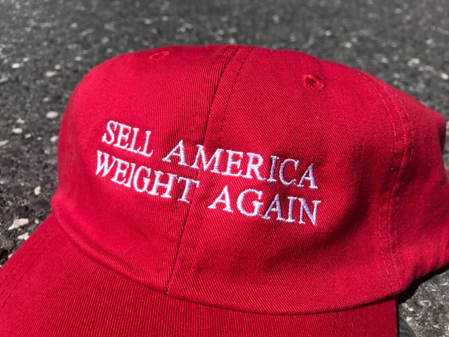 Image of Sell America Weight Again Dad Hat