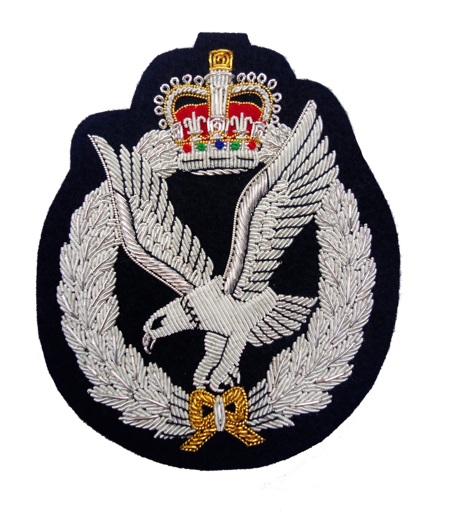 Army Air Corps Hand Embroidered Bullion Blazer Badge