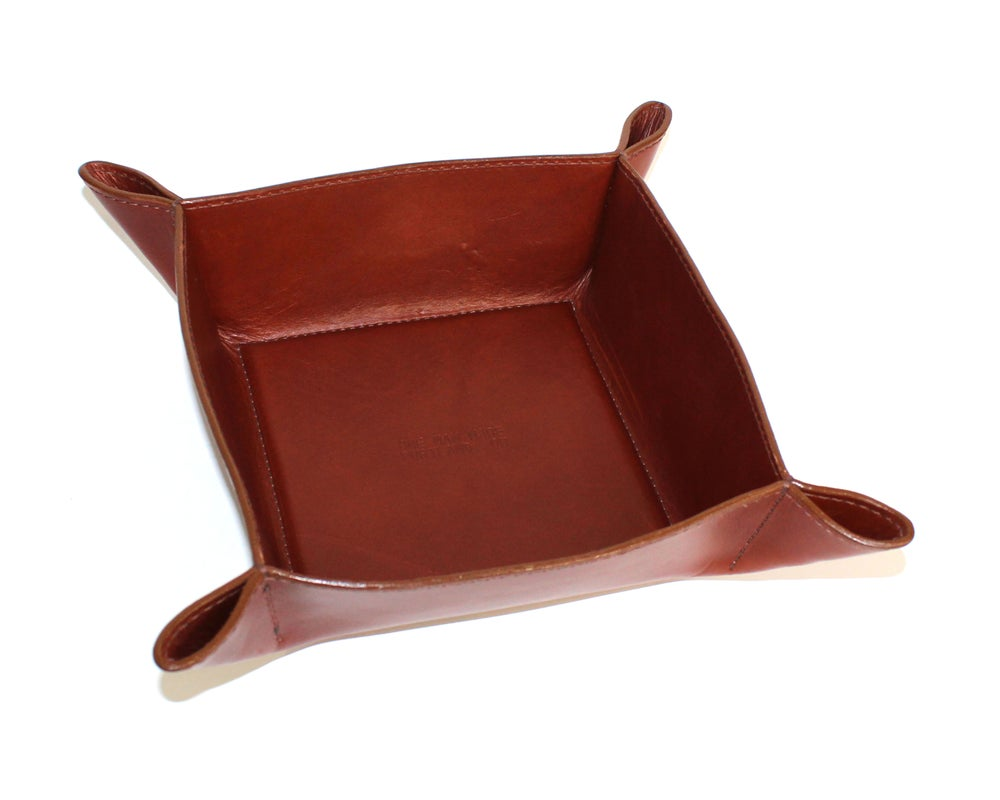 Image of DELUXE VALET TRAY - BROWN