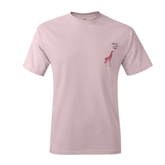 "Image of ""Joseph Chilliams Loves You"" Shirt in Baby Pink"