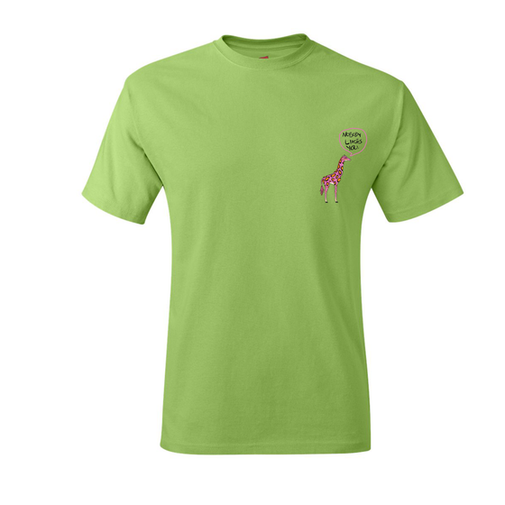 "Image of ""Joseph Chilliams Loves You"" Shirt in Lime"
