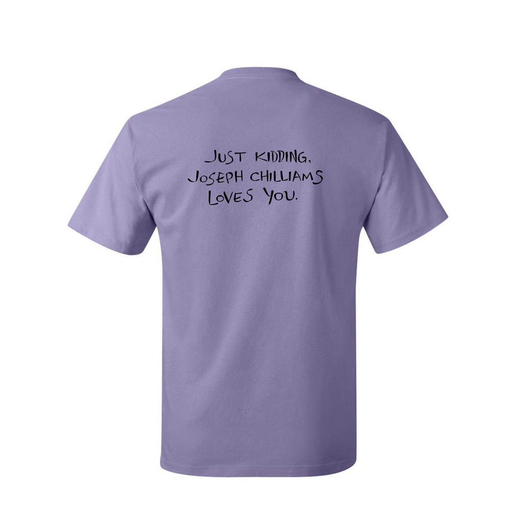 "Image of ""Joseph Chilliams Loves You"" Shirt in Lavender"