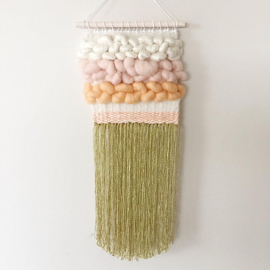 Image of Woven Wall Hanging - Mini Peachy Keen