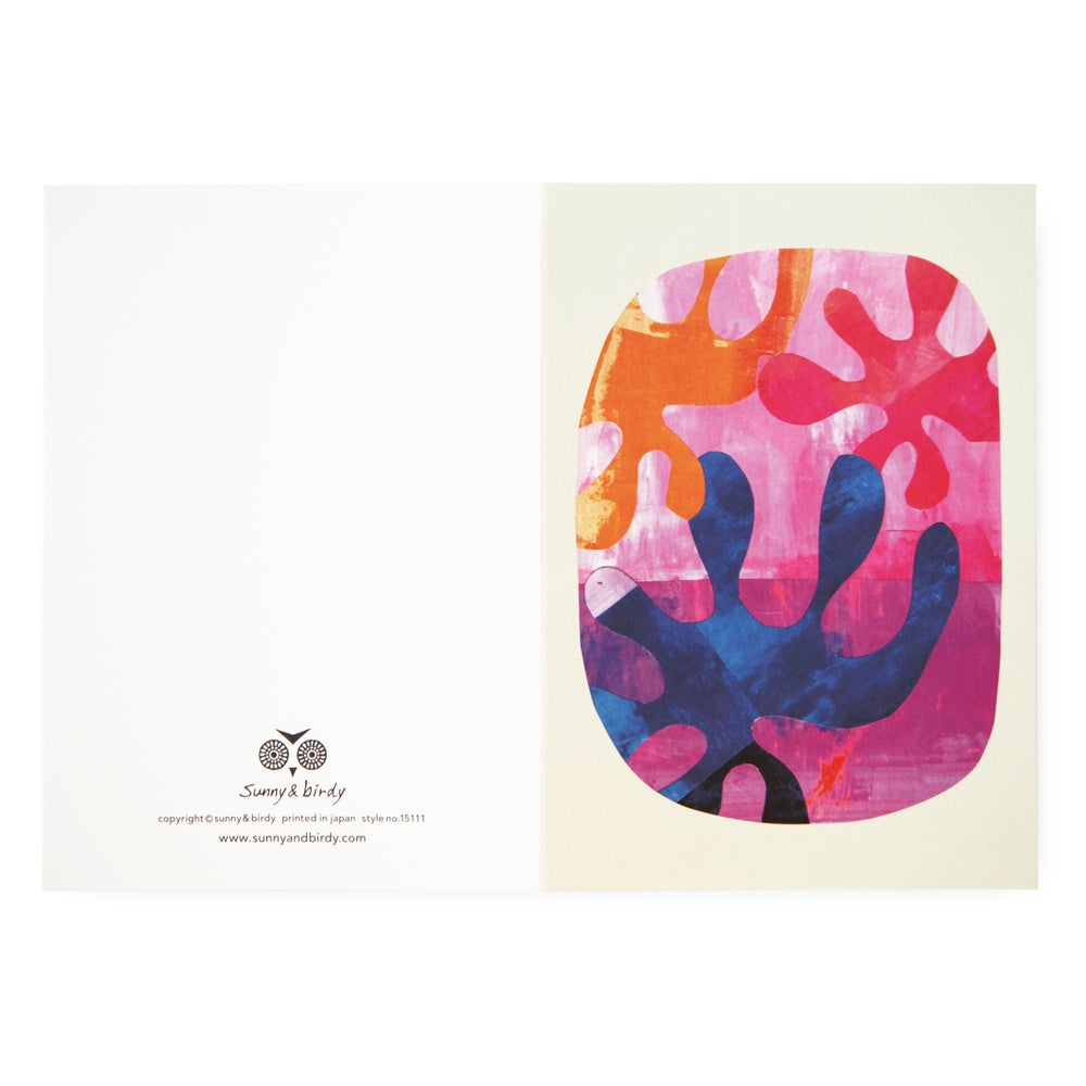 Image of Single card - floral brain