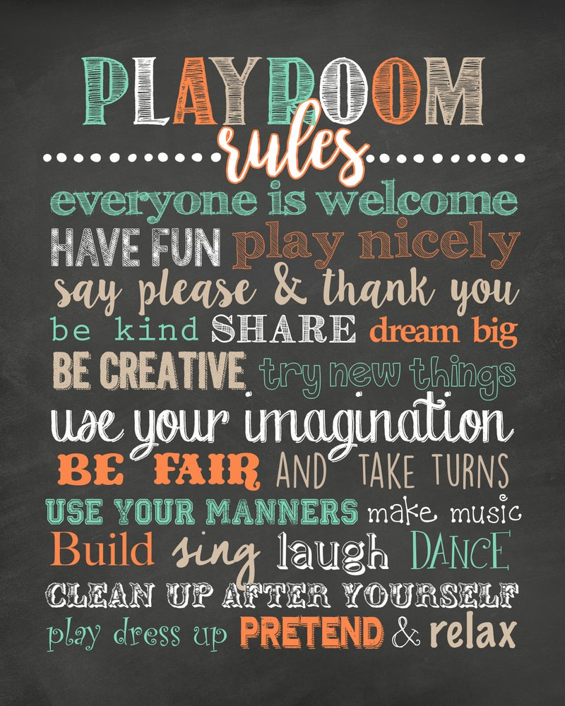 Image of Playroom Rules Chalkboard