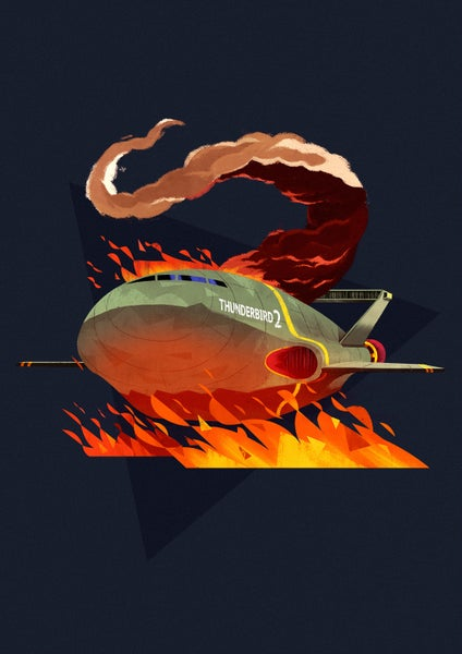 Image of Thunderbird 2 // A3 Art Print