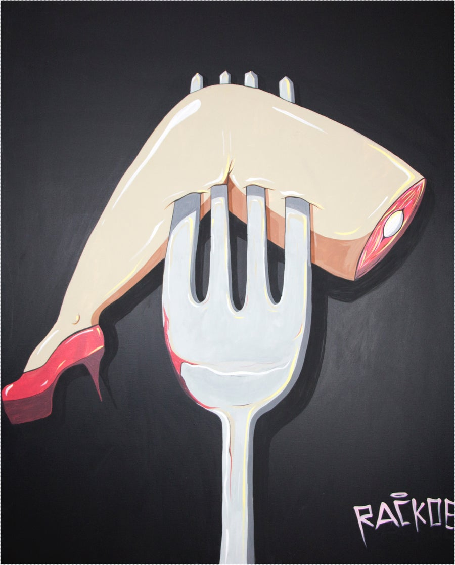 "Image of Dinner Date 48 x 60"" Original Painting"
