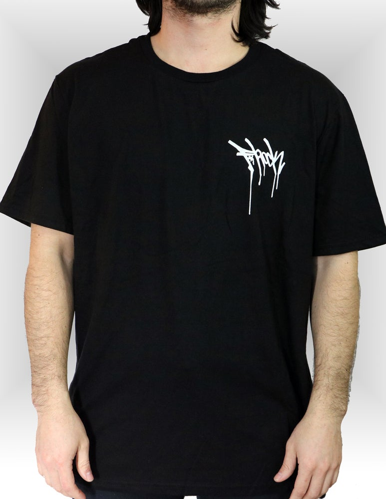 Image of F-Rock Drip Tee - Black/White