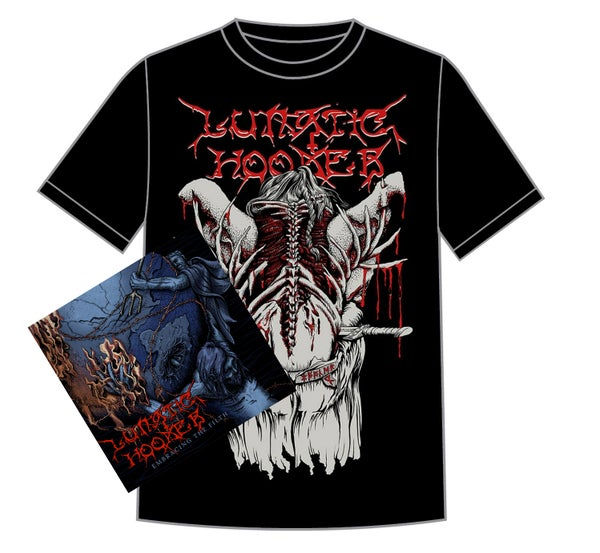 Image of 'Embracing The Filth' CD + a RED 'Blood Eagle' Shirt