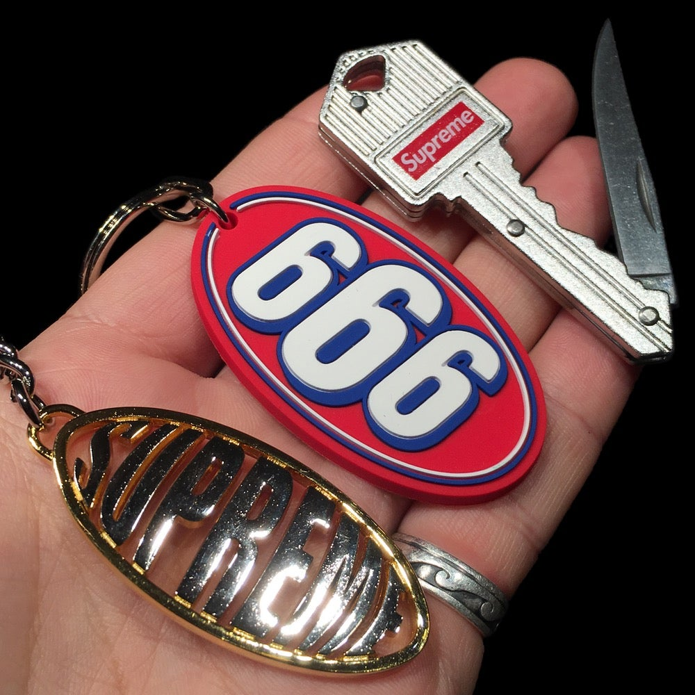 Image of 2017 Origins, 666, Oval, Knife Key, & True Utility Telepen Keychain