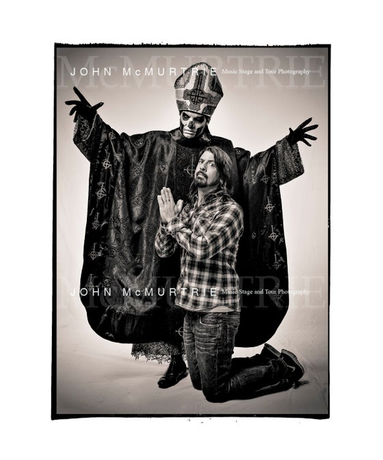 Image of Dave Grohl and Papa Emeritus III from GHOST 24x20