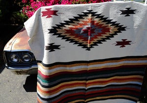 Image of Authentic Mexican Blanket - 'San Miguel' Style Design