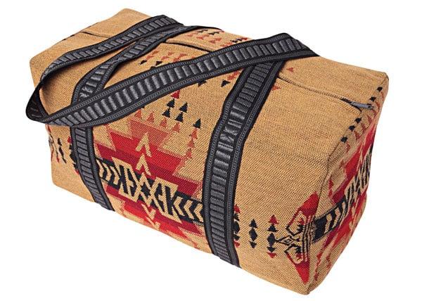 Image of Weekender Travel Bag - Beige/Red