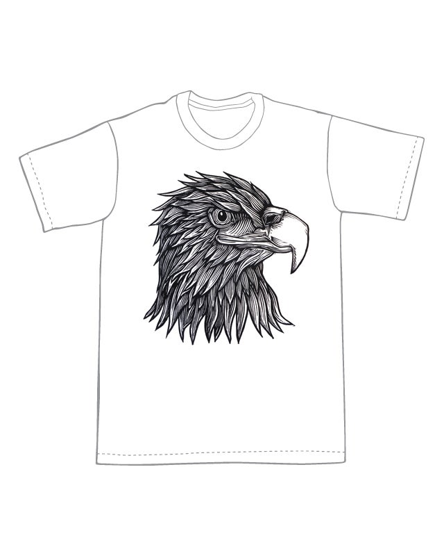 Image of Eagle Head T-shirt **FREE SHIPPING**